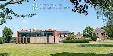 Kings Norton Girls' School  Open Morning Tours - Sept 29th, 2021 tickets