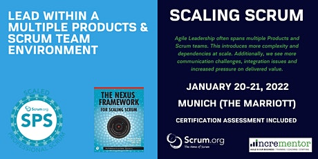 Scaled Professional Scrum (SPS) | A Scrum.org Certified Training Tickets