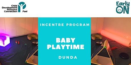 IN CENTRE PROGRAM - Baby Playtime (Birth to 12 months) tickets
