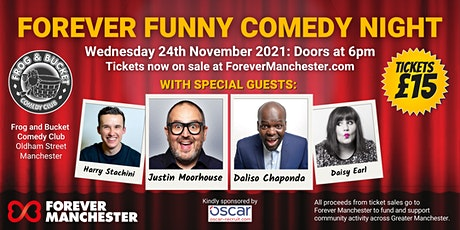 Forever Funny Comedy Night - 24th November 2021 tickets