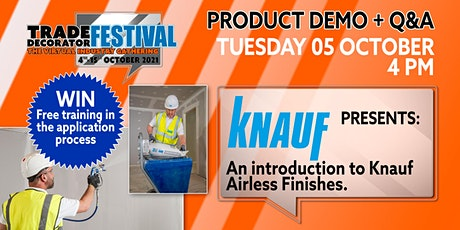 Knauf: Airless Spray Finishes Demo tickets