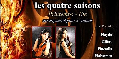 Vivaldi, les quatre saisons : version pour 2 violons billets