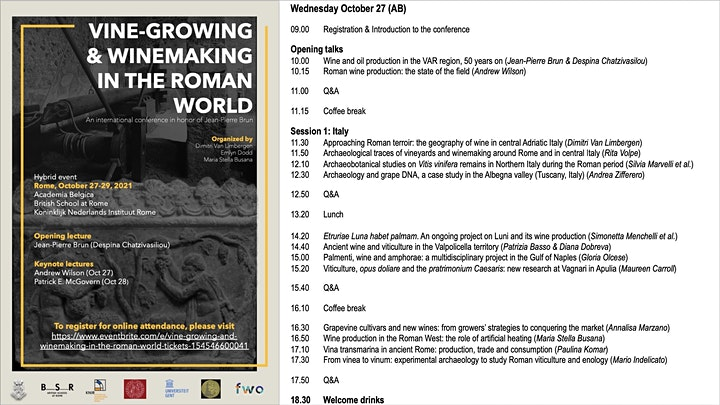 Vine-growing and winemaking in the Roman world image