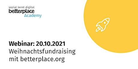 Webinar: Weihnachtsfundraising mit betterplace.org Tickets