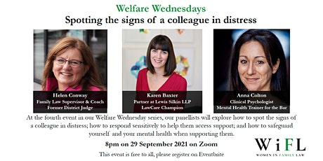 Welfare Wednesday: spotting the signs of a colleague in distress tickets