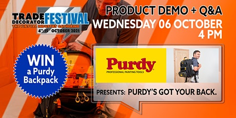 Product Demonstrations: PURDY'S GOT YOUR BACK tickets