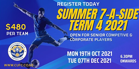 SENIOR COMPETITIVE & SOCIAL  SUMMER 7-A-Side – TERM 4 2021 tickets