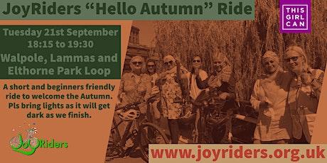 Hello Autumn Beginners Ride: Walpole, Lammas and Elthorne Park loop tickets