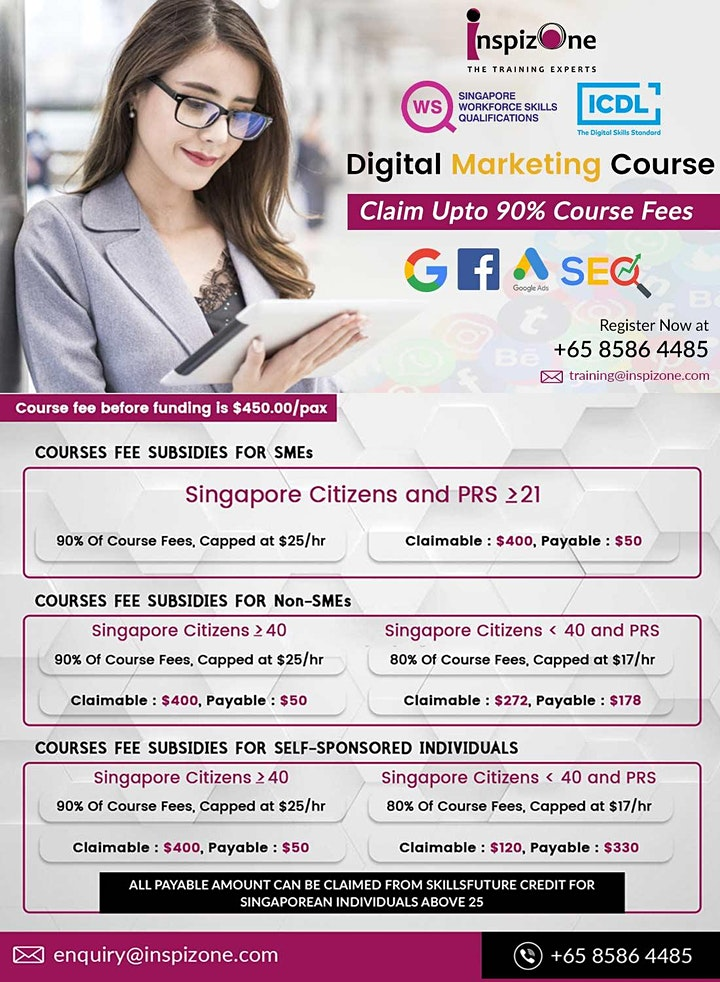 ICDL Approved Digital Marketing Course in Singapore - 90% WSQ Claimable image