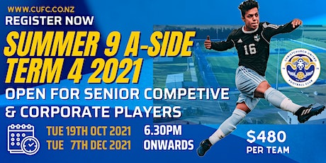 SENIOR COMPETITIVE & SOCIAL  SUMMER 9-A-Side – TERM 4 2021 tickets