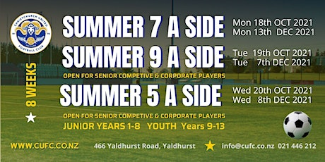 ALL AGES COMPETITIVE & SOCIAL  SUMMER 5-A-Side –TERM 4 2021 tickets