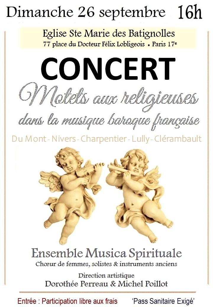 Image pour Musique Baroque Française pour Choeur de femmes,  Solistes  et  Instruments