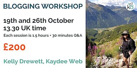 Blogging workshop for SEO tickets