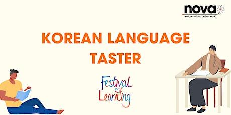Korean Language Taster tickets