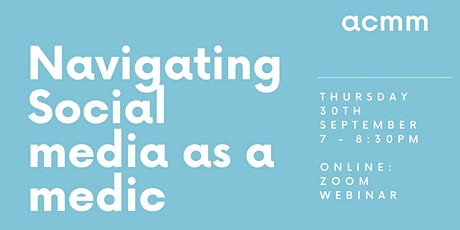 Navigating Social Media as a Medic tickets