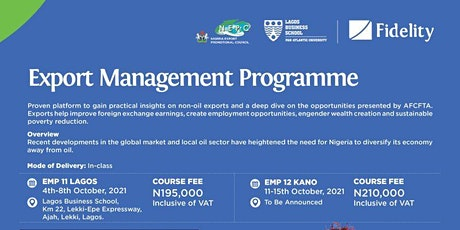 The Export Management Programme (Lagos, Nigeria) tickets