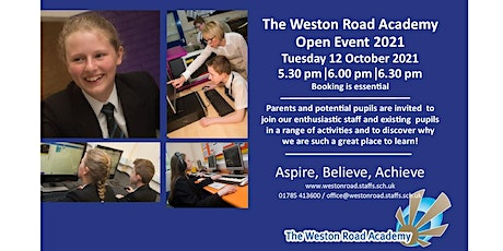 Open Evening Session 2 6.00 pm - 7.00 pm tickets