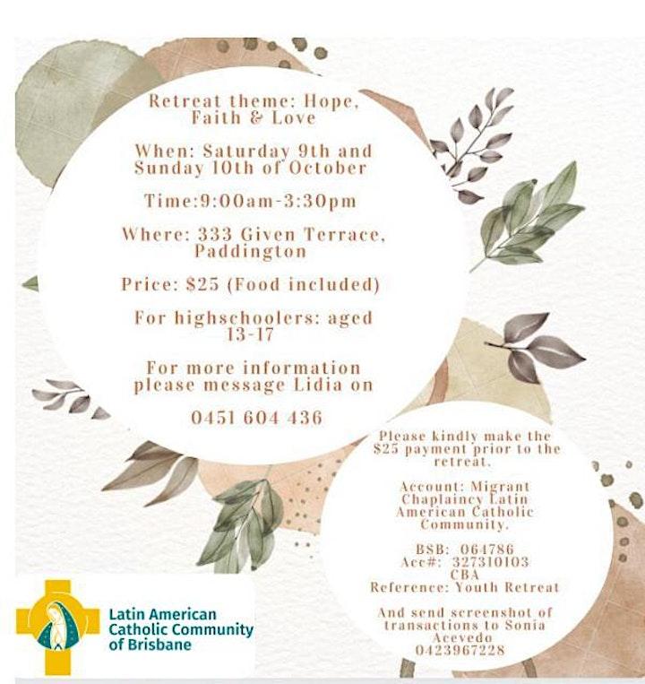 Hope, Faith & Love - Youth Retreat 2021 (9 y 10 Octubre 2021) image