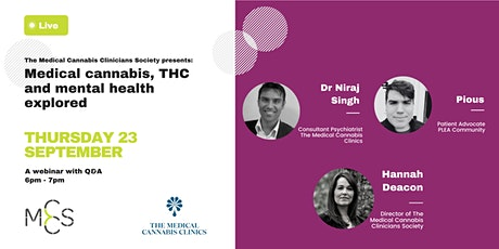 Medical cannabis, THC and mental health explored tickets
