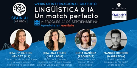 Webinar (MujeresTech y Aragón AI Talk): Lingüística & IA, un match perfecto boletos