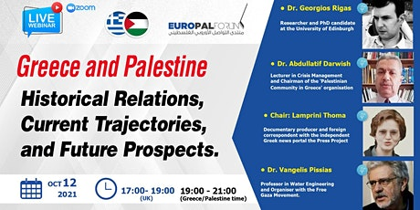 Greece and Palestine: Current Trajectories and Future Prospects tickets