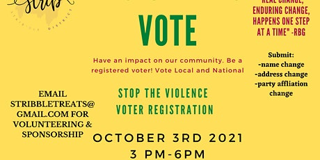 Rock the Block, Voter Registration Party tickets