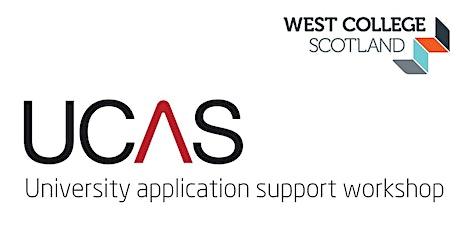 UCAS Application Support Presentation- Greenock Campus Students tickets