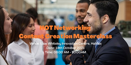 HOT Networking: Content Creation Masterclass tickets