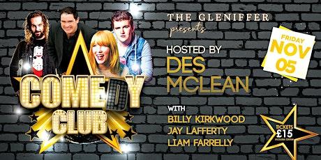 COMEDY CLUB @ The Gleniffer tickets