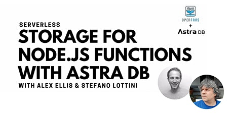 Livestream: Serverless Storage for Your Node.js Functions with Astra DB tickets