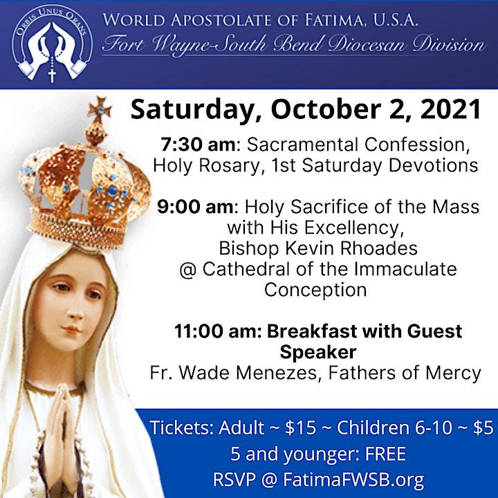 World Apostolate of Fatima Annual Holy Mass & Breakfast image
