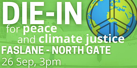 """Bus tickets for """"Disarm for Our Planet"""" Die -in, Faslane (26 Sep) tickets"""