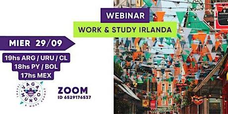 WEBINAR:  Work & Study IRLANDA / VAGA-MUNDO entradas