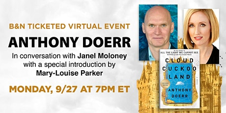 B&N Virtually Presents: Anthony Doerr to discuss CLOUD CUCKOO LAND tickets