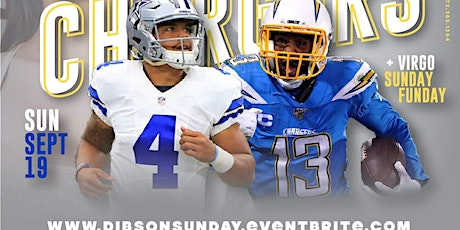 {Sept 19th} Cowboys vs Chargers + Sunday Funday + Brunch After Party @ Dibs tickets