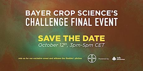 Bayer Crop Science International Startup Call - Challenge Finals Event tickets