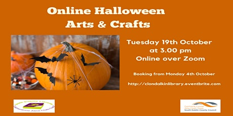Online Halloween Arts & Crafts with Kim Jenkinson.  Ages 6 +. tickets
