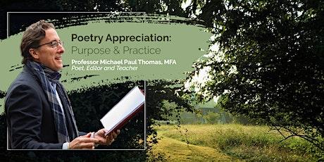 Poetry Appreciation: Purpose & Practice tickets