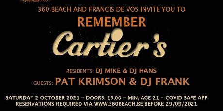 Remember Cartier's @ 360 Beach tickets