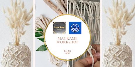 MacArthur's Macramé Vase Workshop tickets