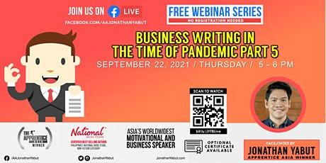 Business Writing in Time of Pandemic, Part 5 tickets