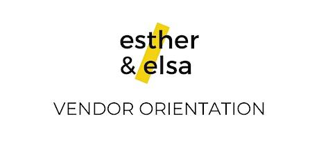 9/20  (Monday) Vendor Orientation tickets