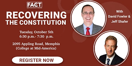 Recovering the Constitution- Memphis Area tickets
