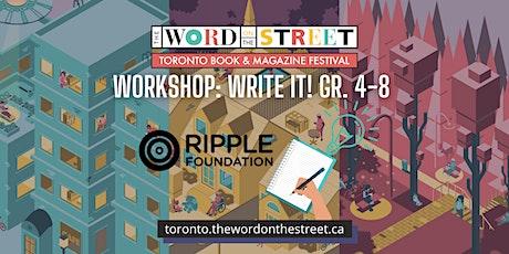Workshop: Write It! Gr. 4-8 tickets