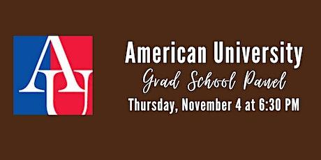 American University Grad School Panel tickets