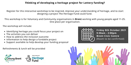 The National Lottery Heritage Fund Workshop tickets