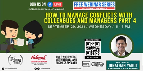 How to Manage Conflicts with Colleagues & Managers, Part 4 tickets