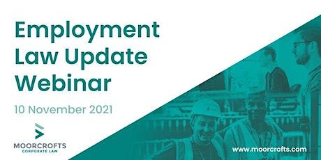 Employment Law Update Webinar tickets
