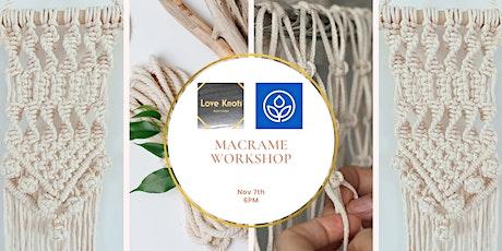 MacArthur's Macramé Wall Hanging Workshop tickets