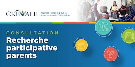 Recherche participative parents billets